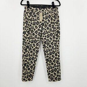 J crew Martie  Slim Crop k2683 Leopard Print